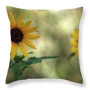 Summer Of Sunflowers  Throw Pillow