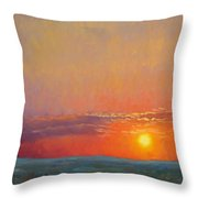 Summer Of The Red Sky Throw Pillow