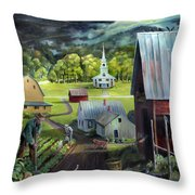 Summer On The Back Road In Vermont Throw Pillow