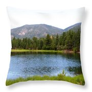 Summer On The Lake Throw Pillow