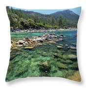 Summer Paddle Throw Pillow