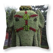 Summer Palace Elephant 2 Throw Pillow