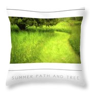 Summer Path And Tree Poster Throw Pillow