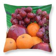 Cool Summer Patio Tidbits Throw Pillow