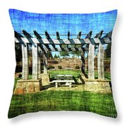 Summer Pergola Rest Spot Throw Pillow
