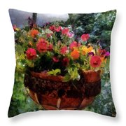 Summer Picture Window Throw Pillow