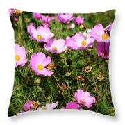 Summer Pink Throw Pillow