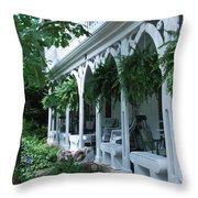 Summer Porch Throw Pillow