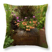 Summer Pot Throw Pillow