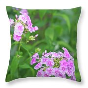 Summer Purple Flower Throw Pillow