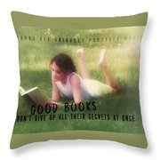 Summer Reading Quote Throw Pillow