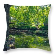Summer Reflections At Lafayette Park Throw Pillow