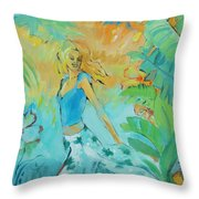 Summer Rhythms Throw Pillow