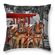 Summer Ride Throw Pillow