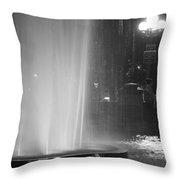 Summer Romance - Washington Square Park Fountain At Night Throw Pillow