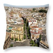 Summer Rooftops In Seville Spain Throw Pillow