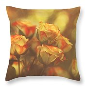 Summer Roses #1 Throw Pillow by Pat Abbott