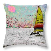 Summer Sailin Throw Pillow