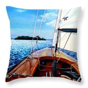 Summer Sailing Throw Pillow