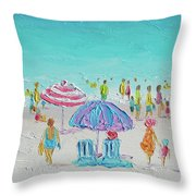 Summer Scene Diptych 1 Throw Pillow