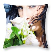 Summer Scent Throw Pillow