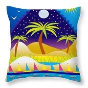 Summer Serenity Throw Pillow