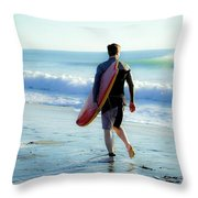 Summer Session Throw Pillow