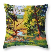 Summer Shadows Throw Pillow