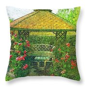 Summer Shelter Throw Pillow