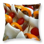 Summer Shish - Kabobs Throw Pillow