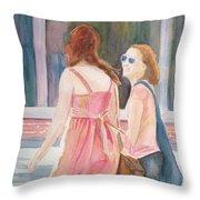 Summer Shoppers Throw Pillow