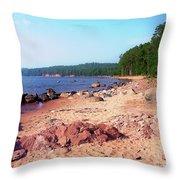 Summer Shores Of Lake Superior Throw Pillow