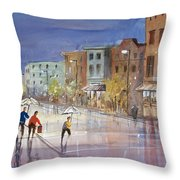 Summer Showers In Green Bay Throw Pillow