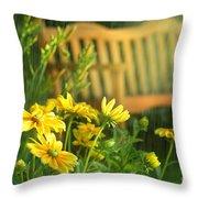 Summer Showers Throw Pillow by Sandra Cunningham