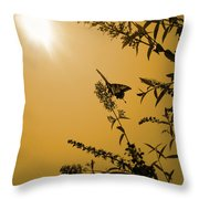 Summer Silhouette Throw Pillow