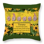 Summer Spanish Throw Pillow