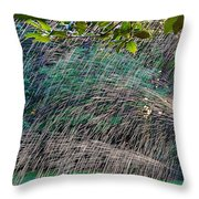 Summer Sprinkler Throw Pillow