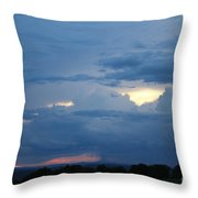Summer Storm Moving In Corinna Maine  Throw Pillow