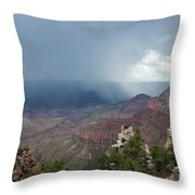 Summer Storm North Rim Grand Canyon National Park Arizona Throw Pillow