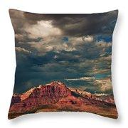 Summer Storm Zion National Park Utah Throw Pillow