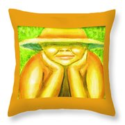 Summer Sun Throw Pillow
