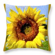 Summer Sunflower Throw Pillow