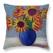 Summer Sunflowers Throw Pillow