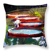 Summer Sunlight On Lily Pads Throw Pillow