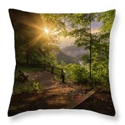 Summer Sunrise Throw Pillow