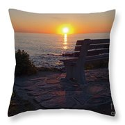 Summer Sunrise, Marginal Way, Ogunquit, Maine  -67904 Throw Pillow