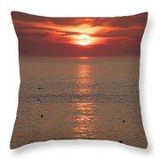 Summer Sunrise Rockport, Ma Throw Pillow