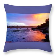 Summer Sunset At Low Tide Throw Pillow