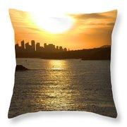 Summer Sunset In Sydney Throw Pillow