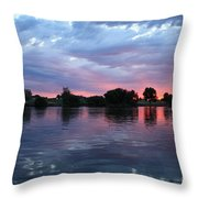 Summer Sunset On Yakima River 4 Throw Pillow